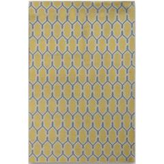 Zara 10 Yellow Flat-Weave Area Rug 5'x8'