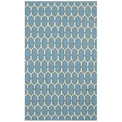 Zara 8 Sky Blue Flat-Weave Area Rug 2'x3'