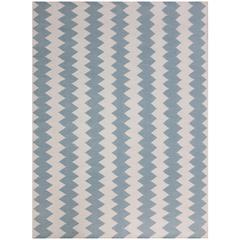 Zara 18 Ivory Flat-Weave Area Rug 5'x8'