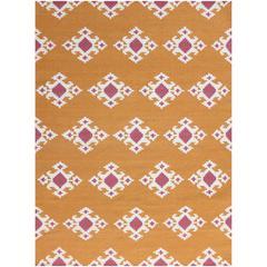 Zara 20 Orange Flat-Weave Area Rug 2'x3'