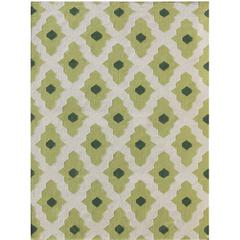 Zara 72 Green Flat-Weave Area Rug 5'x8'