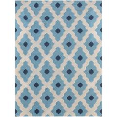 Zara 73 Light Blue Flat-Weave Area Rug 2'x3'