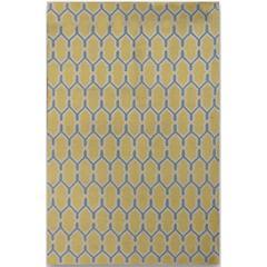 Zara 10 Yellow Flat-Weave Area Rug 3'x5'