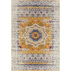 "Manhattan 33 Ivory Power-Loomed Area Rug 5'3""x7'6"""