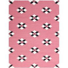 Zara 22 Pink Flat-Weave Area Rug 8'x10'