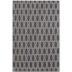 Zara 6 Dove Gray Flat-Weave Area Rug 5'x8'