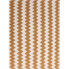 Zara 21 Orange Flat-Weave Area Rug 3'x5'
