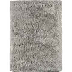 Metro 11 Light Gray Shag Area Rug 5'x7'6""