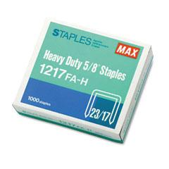 "MAX HD-12F FLAT CLINCH 1000PK 5/8"" STAPLES"