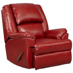 Exceptional Designs by Flash Sensations Red Brick Leather Rocker Recliner