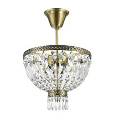 "Metropolitan Collection 3 Light Antique Bronze Finish Crystal Semi Flush Mount Ceiling Light 12' D x 14"" H Round Small"