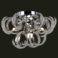 "Medusa Collection 3 Light Chrome Finish Crystal Ribbon Flush Mount Ceiling Light 12"" D x 11"" H Small"