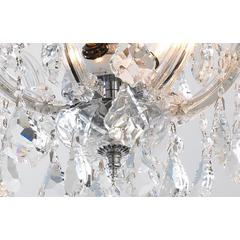"Bayou Collection 6 Light Chrome Finish and Clear Crystal Semi-Flush Mount Ceiling Light 20"" D x 15"" H Large"