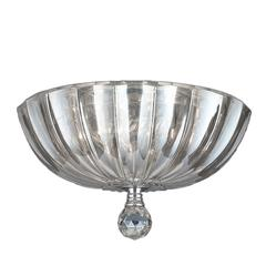 """Mansfield Collection 3 Light Chrome Finish and Clear Crystal Bowl Flush Mount Ceiling Light 12"""" Small"""