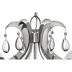 """Henna Collection 6 Light Chrome Finish and Clear Crystal Chandelier 18"""" D x 15"""" H Medium"""