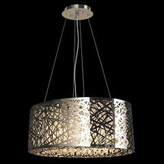 """Aramis Collection 8 Light Chrome Finish and Clear Crystal Chandelier 20"""" L x 11"""" W x 9"""" H Medium"""