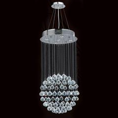"""Saturn Collection 5 Light Chrome Finish and Clear Crystal Galaxy Chandelier 16"""" D x 32"""" H Medium"""