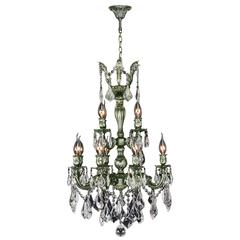 """Versailles Collection 12 Light Antique Bronze Finish and Clear Crystal Chandelier 21"""" D x 32"""" H Two 2 Tier Medium"""