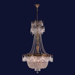 """Winchester Collection 10 Light Antique Bronze Finish and Clear Crystal Chandelier 30"""" D x 50"""" H Large"""