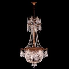 """Winchester Collection 4 Light French Gold Finish and Clear Crystal Chandelier 24"""" D x 40"""" H Medium"""