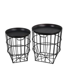 2 Pc Accent Stands-Round