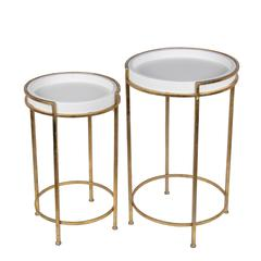 2 Pc Accent Stands-Gold Leaf