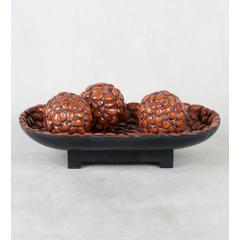 Bowl with 3 Pc Spheres-4in