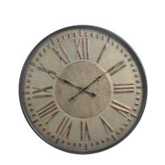 Metal Wall Clock with Glass