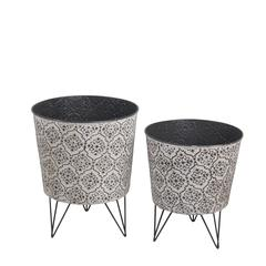 2 Pc Metal Plant Stands