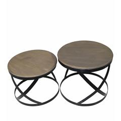 2 Pc Basket Weave Accent Stands
