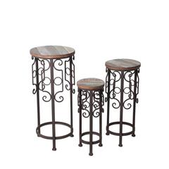 3 Pc Round Plant Stands
