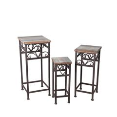 3 Pc Square Plant Stands