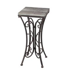 Square Plant Stand-Iron & Wood