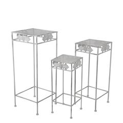 3 Pc Iron Plant Stands-Square