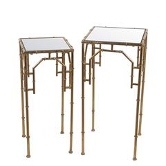 2 Pc Plant Stands-Gold Leaf