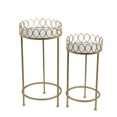 2 Pc Plant Stands-Iron