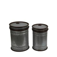 2Pc Tin Cans