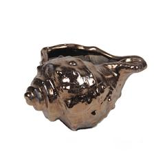 Ceramic Seashell - Metallic Gold