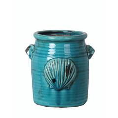 Large Shell Vase - Turquoise