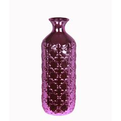 Lrg Ceramic Vase-Metallic Purple