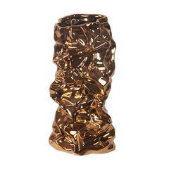 Med Ceramic Vase - Metallic
