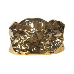 Lrg Ceramic Bowl - Metallic