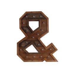 & LED Wooden Letter Board