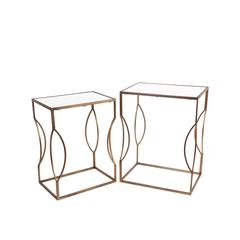 2Pc Iron Stands - Gold