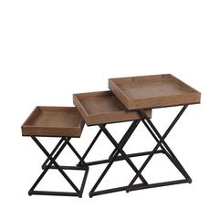 3 Pc Nesting Tables - X Design
