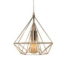 Fangio Lighting's #3861 10 in. Diamond Cage Metal Pendant in a Polished Nickel Finish (with Canopy & Bulb In Box)