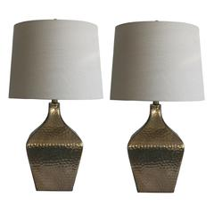 Two Luxury Lamps Without The Luxury Cost! Fangio Lighting's 5161 Pair of 28 in. Antique Brown Mercury Glass & Oil Rubbed Bronze 4-Sided Jug Table Lamps