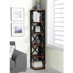 Oxford 5 Tier Corner Bookcase