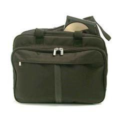 Black Nylon Deluxe Laptop Briefcase by