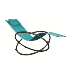 Orbital Lounger - Single, True Turquoise